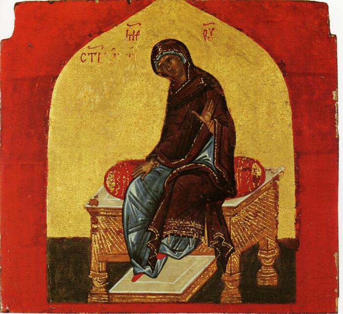 Благовещение Се Раба Господня, без Архангела из Ферапонтова монастыря