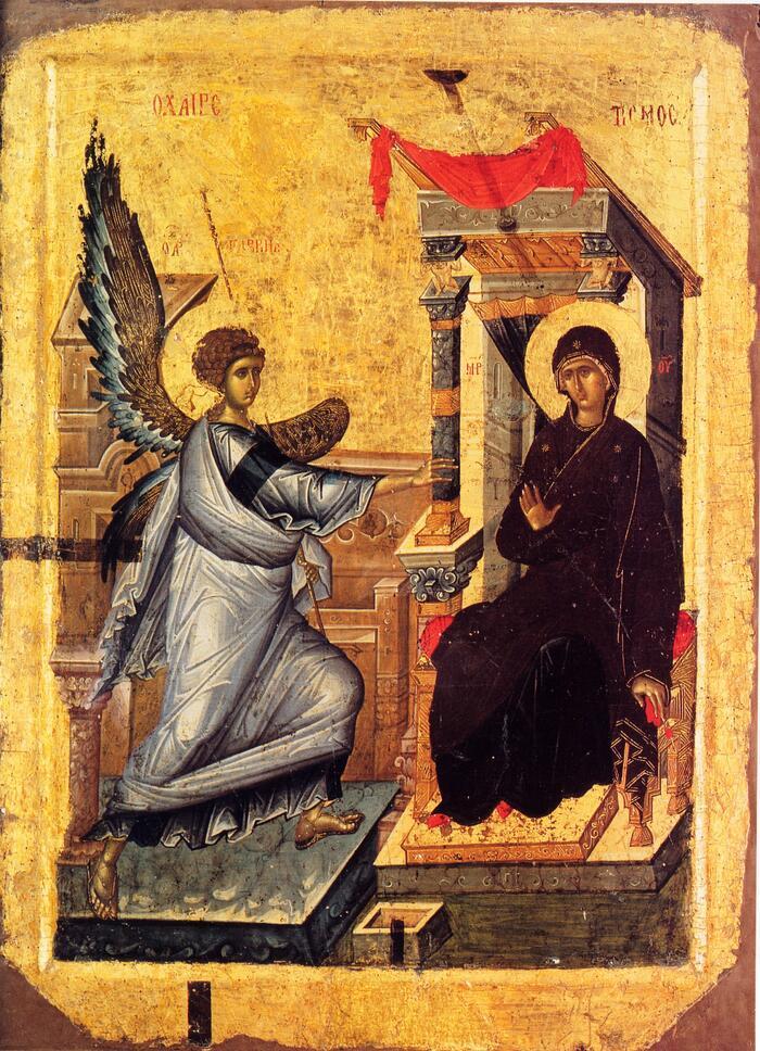 Благовещение, двустронняя икона из Охрида