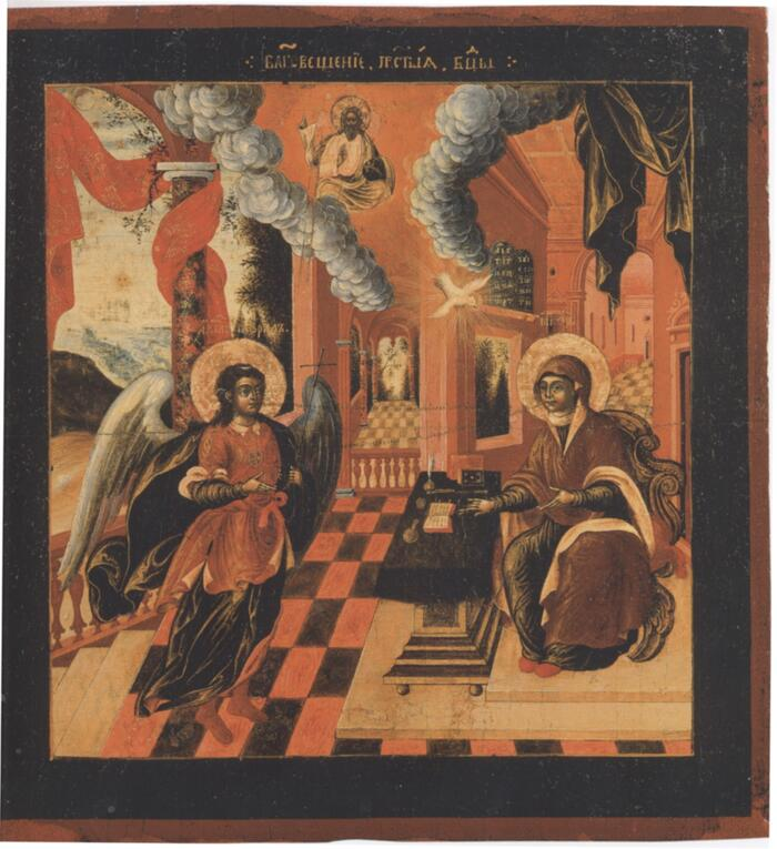Благовещение из музея Андрея Рублева