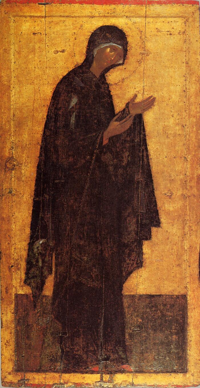 Миропросительница также Богоматерь из деисусного чина из Благовещенского собора Московского Кремля