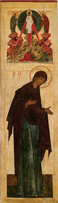 Миропросительница также Богоматерь из деисусного чина из церкви Димитрия Мироточивого в Поле