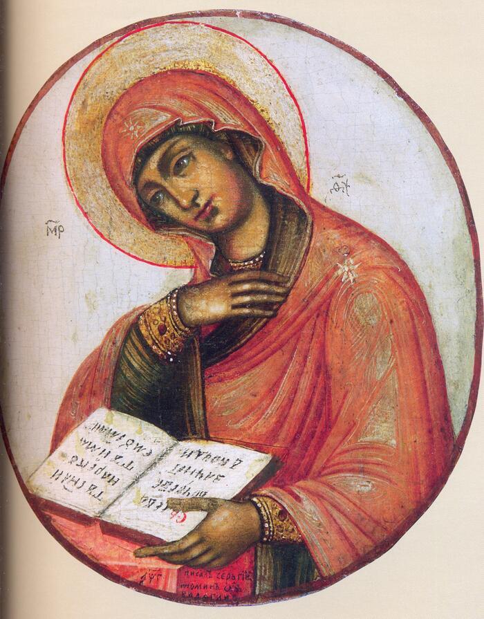 Миропросительница также Богоматерь из деисусного чина из музея-заповедника Коломенское