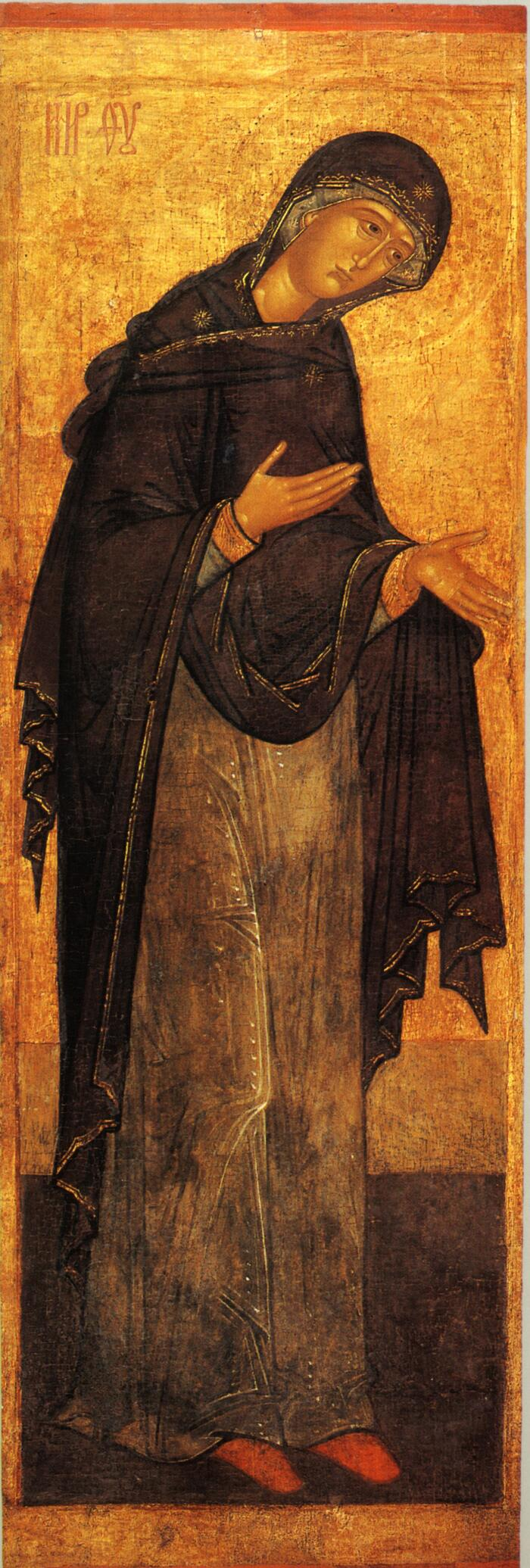 Миропросительница также Богоматерь из деисусного чина из Соловецкого монастыря вторая