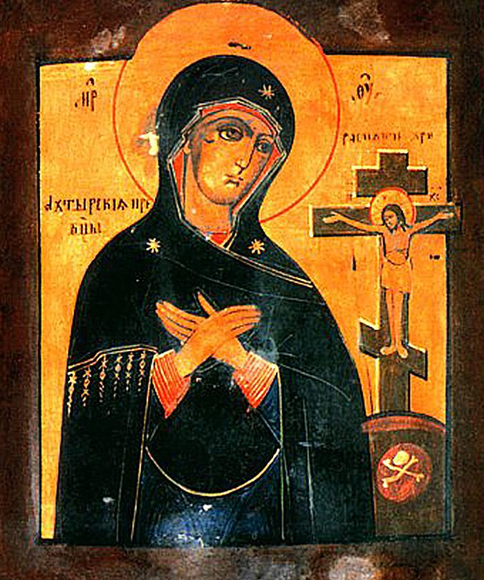 Пред иконой Пресвятой Богородицы Ахтырская