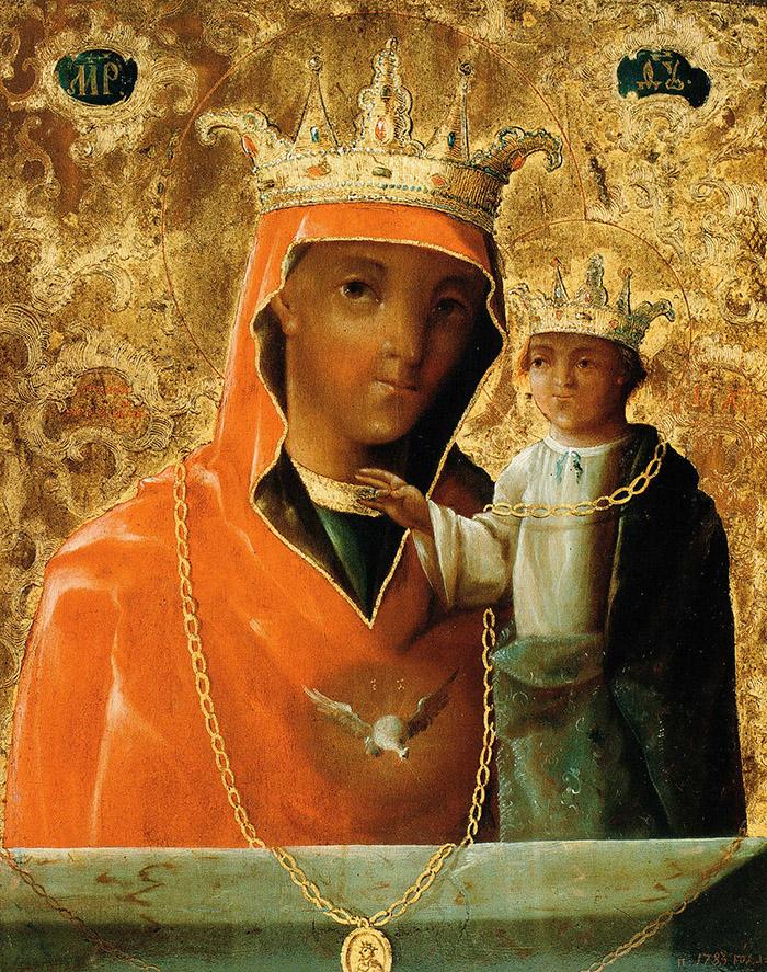 Пред иконой Пресвятой Богородицы Ченстоховская