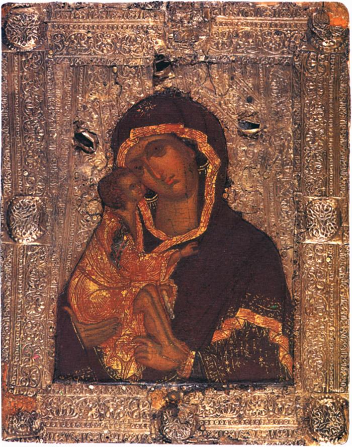 Пред иконой Пресвятой Богородицы Донская