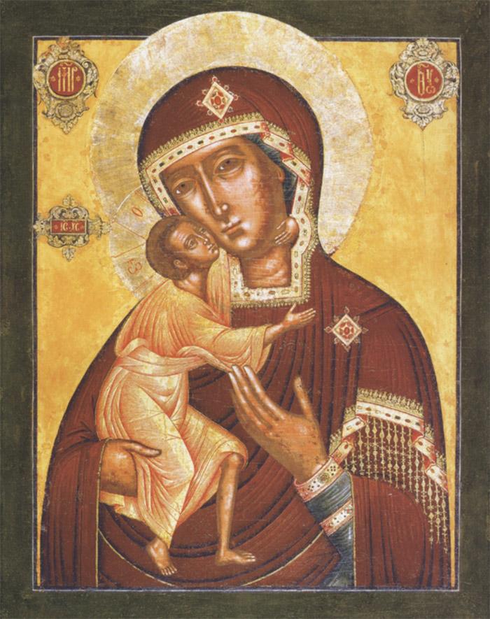Пред иконой Пресвятой Богородицы Феодоровская