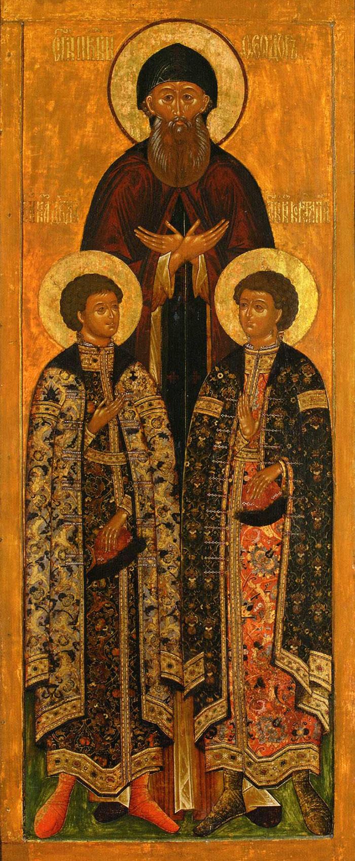 Молитвы святому благоверному князю Феодору и чадам его Давиду и Константину Ярославским