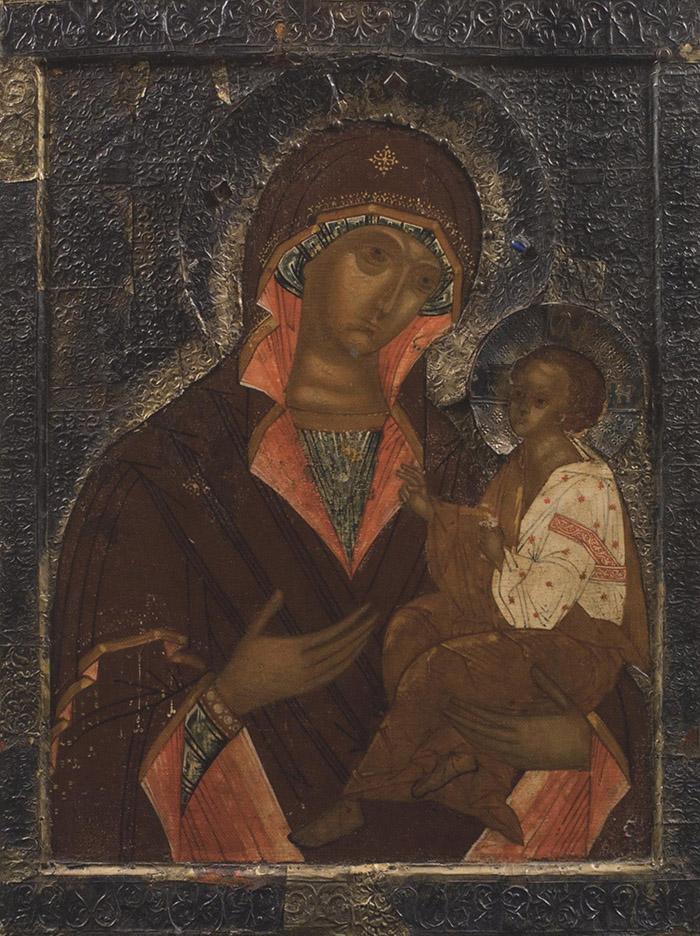 Пред иконой Пресвятой Богородицы Грузинская