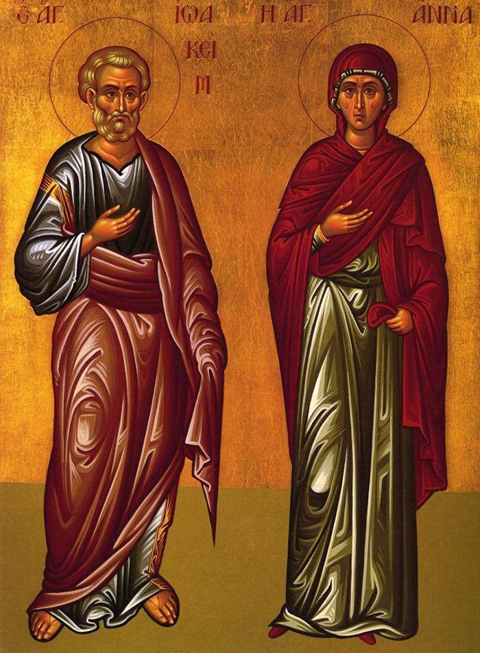 Молитвы святым праведным Богоотцам Иоакиму и Анне