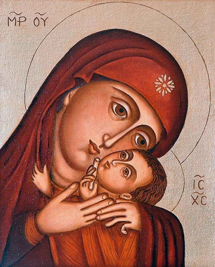 Пред иконой Пресвятой Богородицы Касперовская