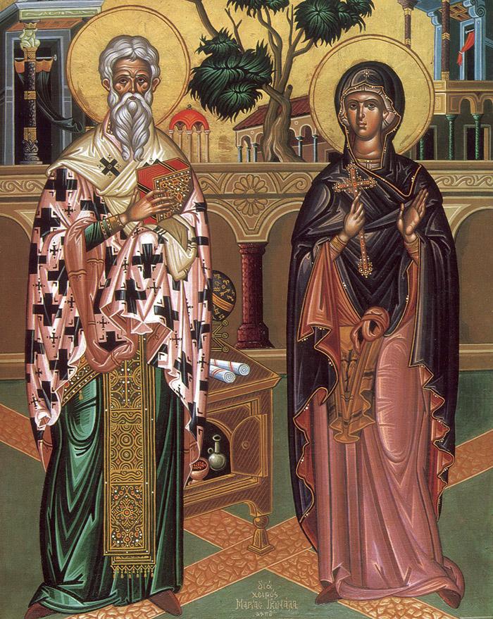 Акафист священномyченикy Кипpианy и святой мученице Иyстине