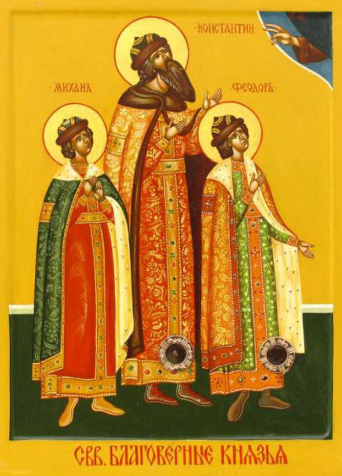 Акафист святым благоверным князем Константину и чадам его Михаилу и Феодору Муромским