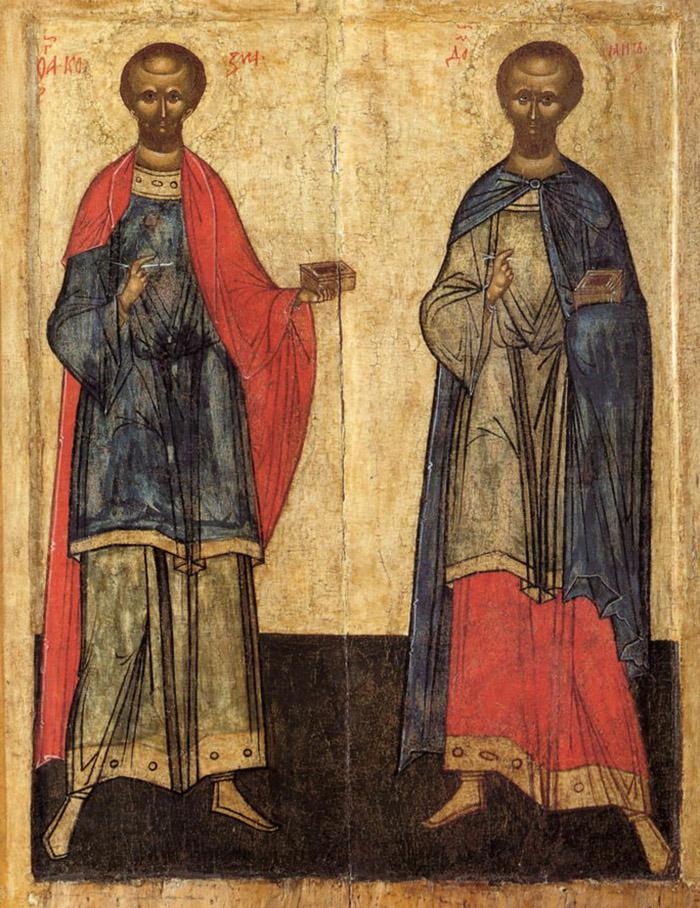 Молитвы святым безсребренникам Косме и Дамиану Ассийским
