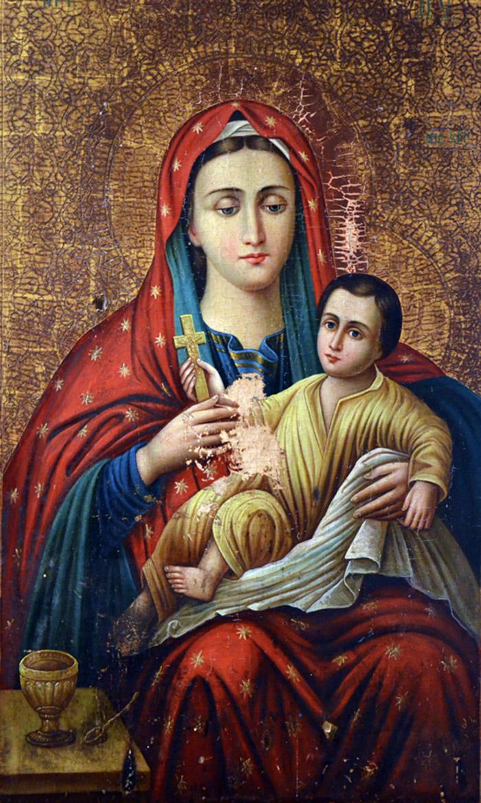 Пред иконой Пресвятой Богородицы Козельщанская