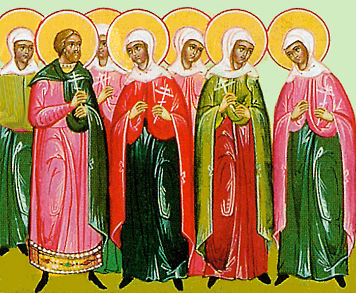 Молитвы святому мученику Леониду и мученицам Хариессе, Нике, Галине, Калисе, Нунехии, Василиссе, Феодоре, Ирине и иже с ними пострадавшим