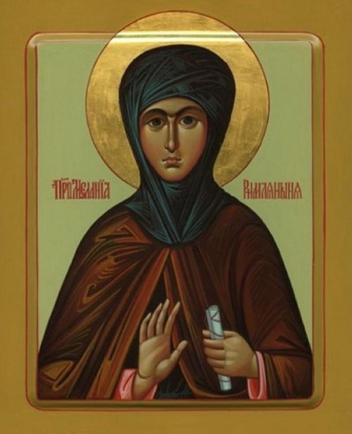 Молитвы преподобной Мелании Римляныне
