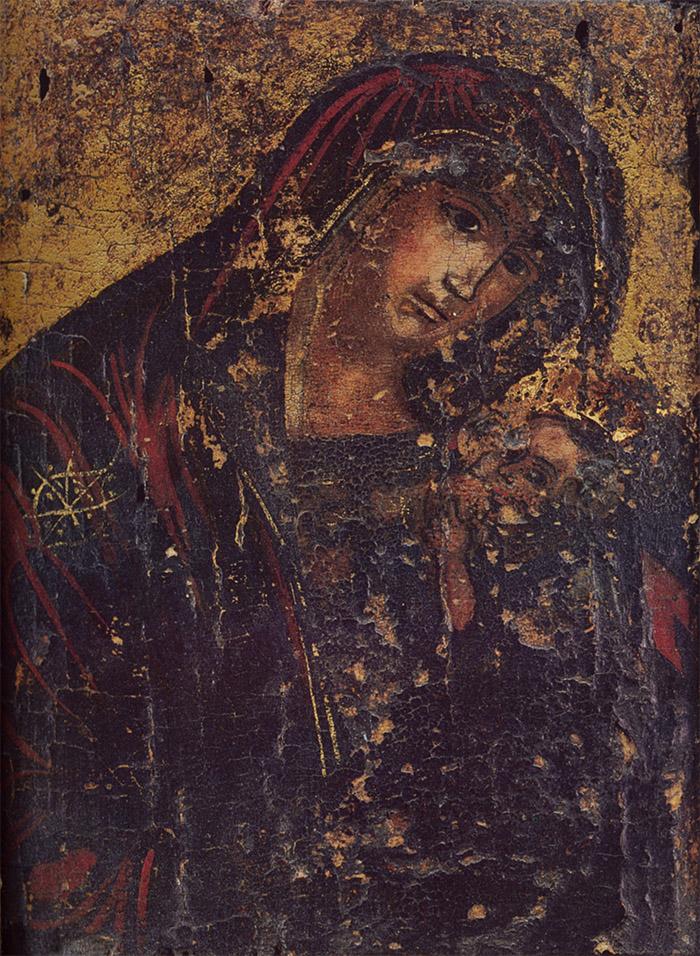 Пред иконой Пресвятой Богородицы Млекопитательница