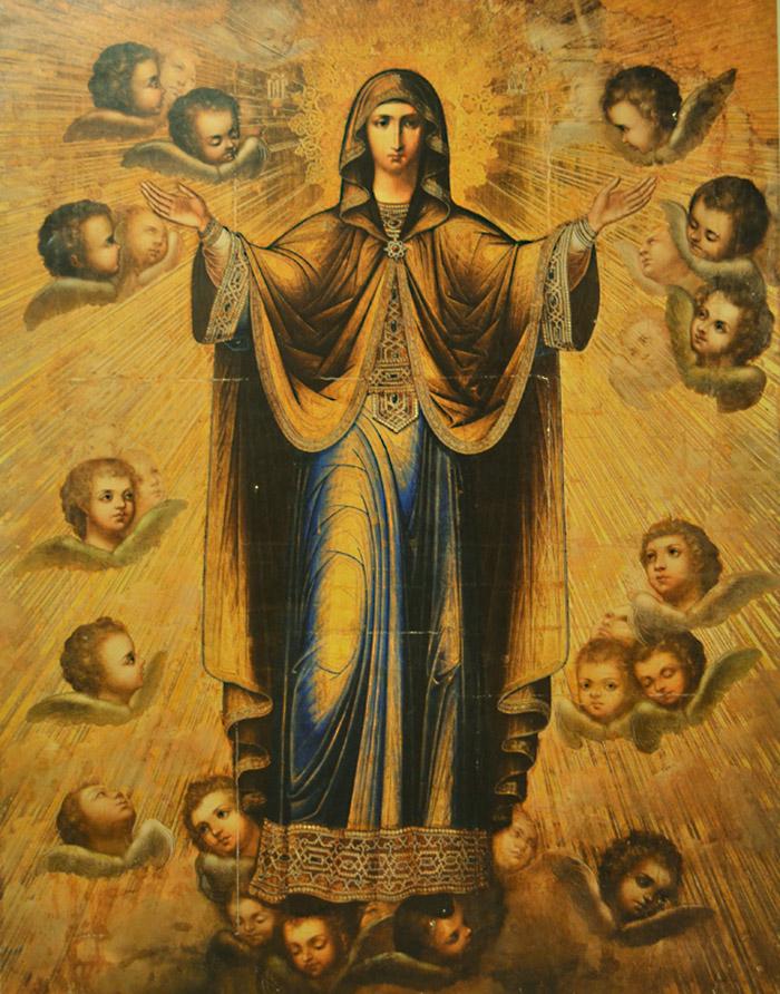Пред иконой Пресвятой Богородицы Нерушимая Стена