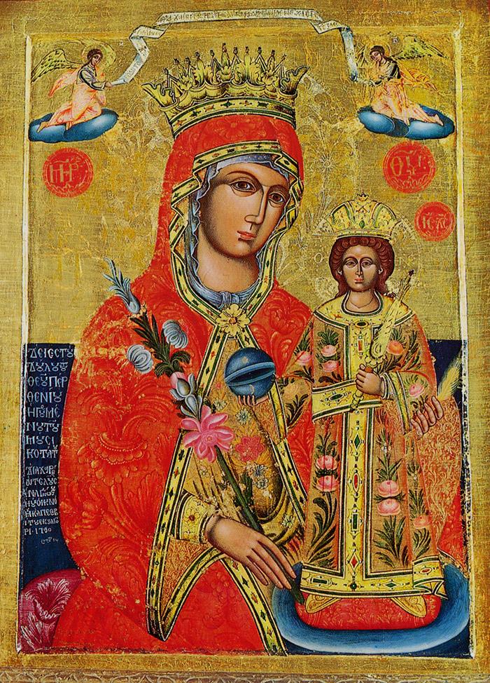 Пред иконой Пресвятой Богородицы Неувядаемый Цвет