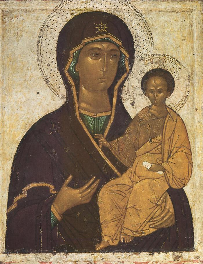 Пред иконой Пресвятой Богородицы Смоленская Одигитрия