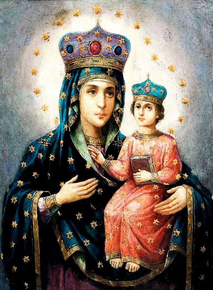 Пред иконой Пресвятой Богородицы Озерянская