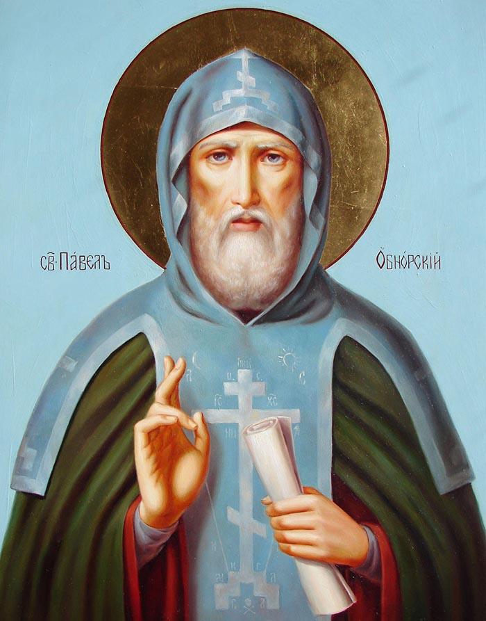 Молитвы преподобному Павлу Обнорскому и Комельскому