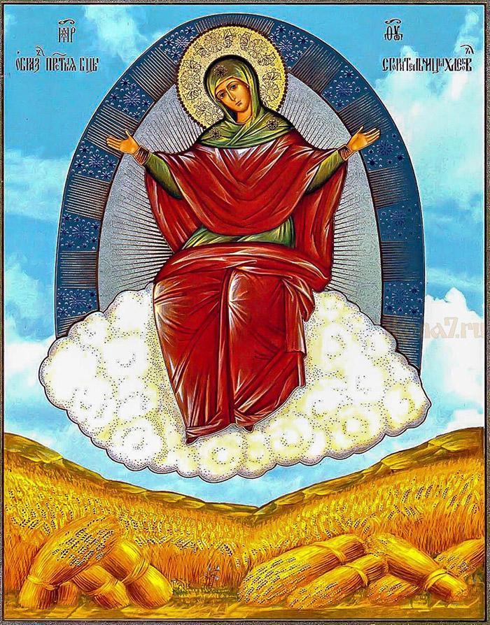 Пред иконой Пресвятой Богородицы Спорительница хлебов