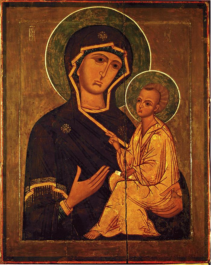 Пред иконой Пресвятой Богородицы Тихвинская