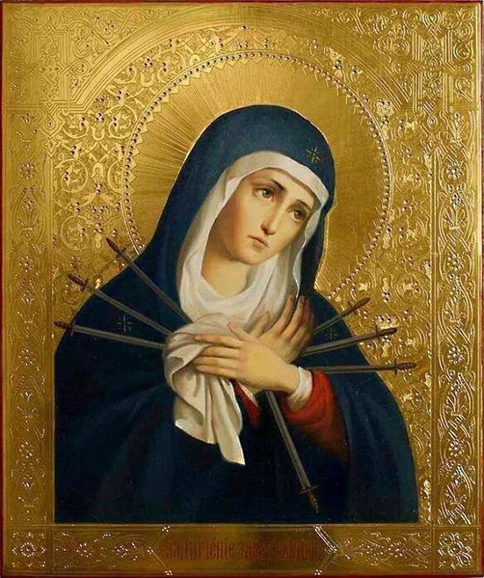 Пред иконой Пресвятой Богородицы Умягчение злых сердец