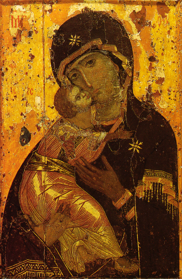 Пред иконой Пресвятой Богородицы Владимирская