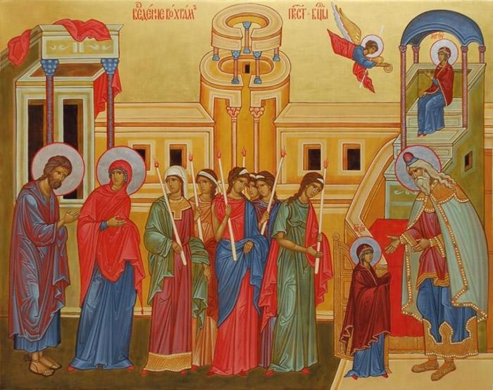 Канон предпразднству Введения во храм Пресвятой Богородицы